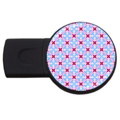 Cute Pretty Elegant Pattern Usb Flash Drive Round (4 Gb)