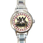 Three donks Round Italian Charm Watch