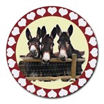 Three donks Round Mousepad