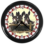 Three donks Wall Clock (Black)