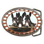 Three donks Belt Buckle