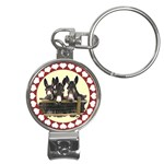Three donks Nail Clippers Key Chain