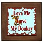 Love my donkey Framed Tile