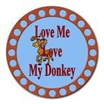 Love my donkey Round Mousepad