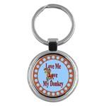 Love my donkey Key Chain (Round)