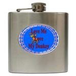 Love my donkey Hip Flask (6 oz)