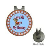 Love my donkey Golf Ball Marker Hat Clip