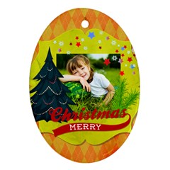 Xmas By Xmas   Oval Ornament (two Sides)   K78l8r24jv4t   Www Artscow Com Front