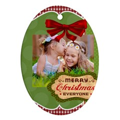 Xmas By Xmas   Oval Ornament (two Sides)   Hphs95clm2u3   Www Artscow Com Back