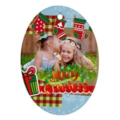 Xmas By Xmas   Oval Ornament (two Sides)   M6hu17lt2xl7   Www Artscow Com Front