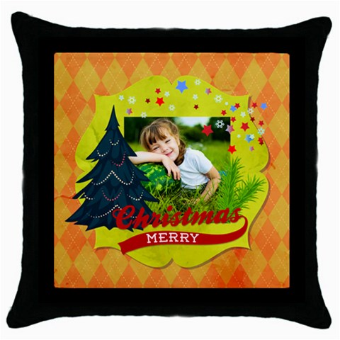 Xmas By Xmas   Throw Pillow Case (black)   Os87p7jrah2d   Www Artscow Com Front