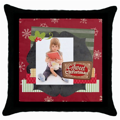 Xmas By Xmas   Throw Pillow Case (black)   Bslsga2z7acs   Www Artscow Com Front