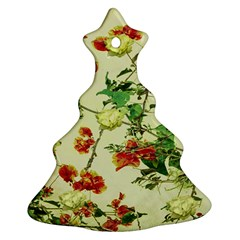 Vintage Style Floral Design Christmas Tree Ornament (2 Sides)