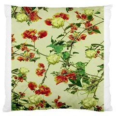 Vintage Style Floral Design Standard Flano Cushion Cases (two Sides)  by dflcprints