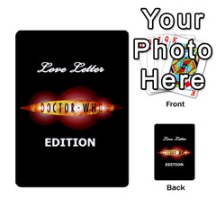Dr Who Love Letter By Chris Szymanski   Multi Purpose Cards (rectangle)   Ba0bpkv4epho   Www Artscow Com Back 1