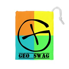 GeocacheBag-1Lefty Drawstring Pouch (Large) by TheDean
