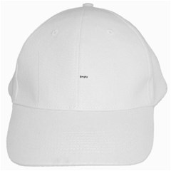 Think Like A Proton And Stay Positive White Cap by ScienceGeek