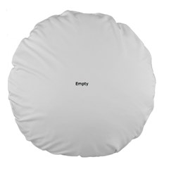 Think Like A Proton And Stay Positive Large 18  Premium Flano Round Cushions by ScienceGeek