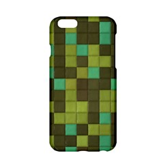 Green Tiles Pattern Apple Iphone 6 Hardshell Case by LalyLauraFLM