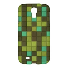 Green Tiles Pattern	samsung Galaxy S4 I9500/i9505 Hardshell Case $10 by LalyLauraFLM