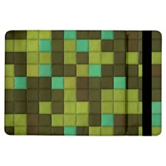 Green Tiles Pattern	apple Ipad Air Flip Case by LalyLauraFLM