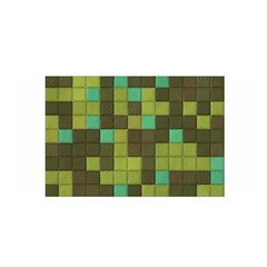 Green Tiles Pattern Satin Wrap by LalyLauraFLM