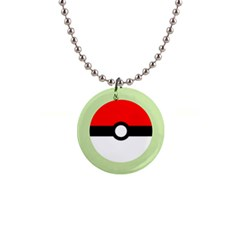 Ball - Green Button Necklace by TheDean