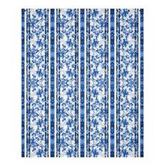 Chinoiserie Striped Floral Print Shower Curtain 60  X 72  (medium)  by dflcprints