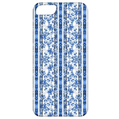 Chinoiserie Striped Floral Print Apple Iphone 5 Classic Hardshell Case by dflcprints