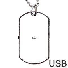 Skull Dog Tag Usb Flash (two Sides)  by icarusismartdesigns