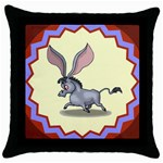 Big ears Throw Pillow Case (Black)