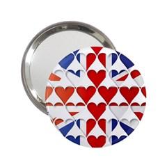 Uk Hearts Flag 2 25  Handbag Mirrors by theimagezone