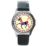 Funny Donkey Round Metal Watch