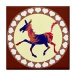 Funny Donkey Tile Coaster