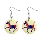 Funny Donkey 1  Button Earrings