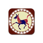 Funny Donkey Rubber Square Coaster (4 pack)