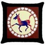 Funny Donkey Throw Pillow Case (Black)