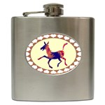 Funny Donkey Hip Flask (6 oz)