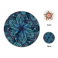 Modern Floral Collage Pattern Playing Cards (round)  by dflcprints