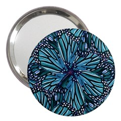 Modern Floral Collage Pattern 3  Handbag Mirrors by dflcprints