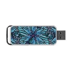 Modern Floral Collage Pattern Portable Usb Flash (one Side)