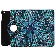 Modern Floral Collage Pattern Apple Ipad Mini Flip 360 Case by dflcprints