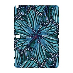 Modern Floral Collage Pattern Samsung Galaxy Note 10.1 (P600) Hardshell Case by dflcprints