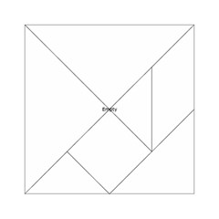 Uk City Names Flag Acrylic Tangram Puzzle (6  X 6 ) by theimagezone