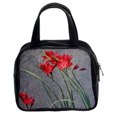 Red Flowers Classic Handbag (two Sides) by DeneWestUK
