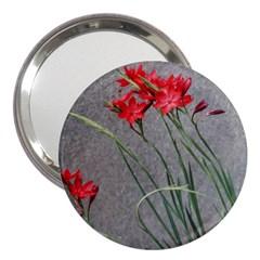 Red Flowers 3  Handbag Mirrors by DeneWestUK