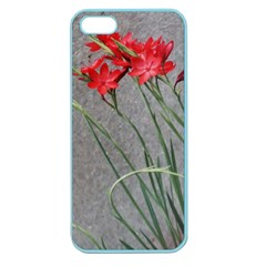 Red Flowers Apple Seamless Iphone 5 Case (color) by DeneWestUK