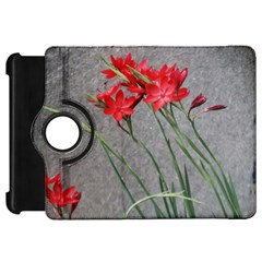 Red Flowers Kindle Fire Hd Flip 360 Case by DeneWestUK