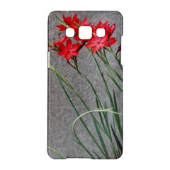 Red Flowers Samsung Galaxy A5 Hardshell Case