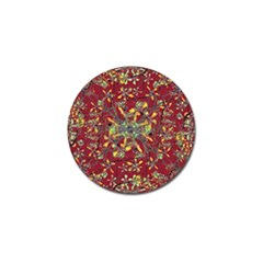 Oriental Floral Print Golf Ball Marker (4 Pack) by dflcprints